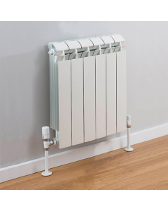 TRC Vox Radiator 440mm High x 500mm Wide, 6 Sections, White VOX44W-6