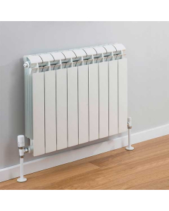 TRC Vox Radiator 690mm High x 740mm Wide, 9 Sections, White VOX69W-9