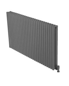 Ultraheat Klon Double DesignerHorizontal Radiator, 420mm H x 611mm W,Grey Black KD416B