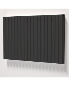 Ultraheat Linear Double DesignerHorizontal Radiator, 600mm H x 427mm W,Black LD608B