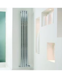 Ultraheat Sofi Single DesignerVertical Radiator, 1800mm H x 239mm W,Chrome SS1804C