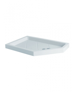 MX Classic Right Hand Flat Top 1400 x 900 Pentagonal Shower Tray - UNE UNE