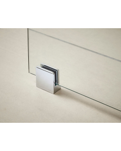 Nuie Polished Chrome Contemporary Wetroom Screen Support Foot - WRSF001 WRSF001