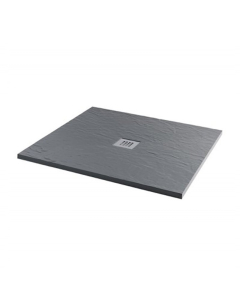 MX Minerals 900 x 900mm Square Ash Grey Shower Tray - X1C X1C