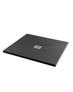 MX Minerals 1000 x 1000mm Square Jet Black Shower Tray - X2S X2S