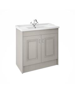 Nuie York Stone Grey Traditional Floor Standing 1000mm Cabinet & Basin - YOR207 YOR207