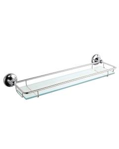 Bayswater Traditional Glass Gallery Shelf Chrome BAY1156