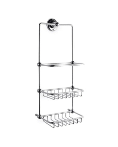 Bayswater Traditional 3-Tier Shower Tidy Chrome BAY1151
